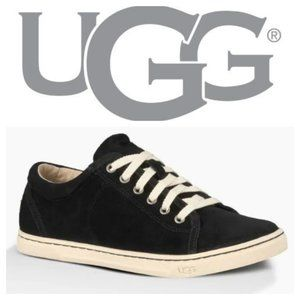 UGG Tomi Lace Up Black Suede Trainers Sneakers 6